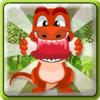 עזרו לדינוזאור החמוד להגיע אל הבשר , משחק חשיבה חמוד לילדים