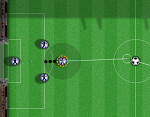 כדורגל דיסקיות יורו 2016 , משחק כדורגל על דיסקיות,  משחק כדורגל בתורות נגד המחשב , כל אחד בתור שלו , נראה קצת כמו משחק ביליארד , כל אחד בתורו צריך להכניס את הכדור לצד של השני