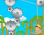 תקנו את המעלית בעזרת גלגלי השיניים , זרקו אותם בעזרת הקוף ליד הגלגלי שיניים שכבר פועלים כדי לגרום למעלית לעבוד (בדרך כלל מעל גלגל שיניים או בצד שלו )