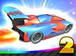 מכונית פעלולים מעופפת 2- משחק חדש