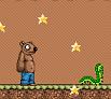 הרפתקאות דוב גריזלי חביב , משחק מהנה , משזכיר את הרפתקאות איש הוופל , שחקו חסלו יצורים אספו תפוחים שאותם תירו ועוד