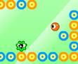 עזרו ליצור הקטן לאסוף את העיגולים האדומים ולהתחמק מהאויבים , משחק קצת קשה