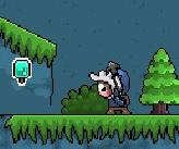 משחק שבו אתה דמות שמטפסת על הרים אוספת דברים ונלחמת במפלצות בעזרת החבל טיפוס שלה.