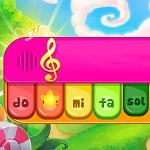 משחק נחמד מאוד של נגינה בפסנתר אונליין, מתאים במיוחד לילדים, עם אפשרות לנגן בסגנון חופשי או לנגן שירי ילדים מוכרים עם הדרכה.