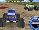 מירוץ הרפתקאות מכוניות מונסטר טראק הענקיות בתלת מימד , מירוץ תלת מימדי מגניב