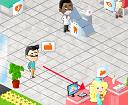 משחק ניהול בית חולים , בואו לנהל בית חולים משלכם, גררו את החולים שמגיעים למקומות הנכונים , הרוויחו כסף ושפרו את בית החולים
