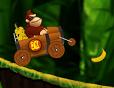 בואו לטייל עם דונקי קונג במכונית ביער ולאסוף בננות
