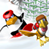 הפעם הפיגווין חוזר והוא נגד היטי במקום הפוך עד עכשיו  , הפינגווין גולש בשלג ליטי על הראש עובר שלבים משחרר פינגווינים ועוד