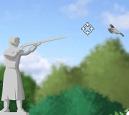 סוף סוף הפסל נוקם בציפורים , לוקח רובה ומתחיל לירות בכל הציפורים שמחרבנות עליו, חסלו ציפורים , עברו שלבים , שפרו נשקים והגנה