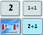 משחק זיכרון חיבור , דרך מגניבה ללמוד חיבור למתחילים , לחצו על קלף ותגלו עליו תרגיל חיבור או מספר אשר תהיו צריכים להתאים אחד לשני