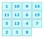 משחק הזזת מספרים 15