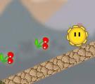 משחק גיבור מתגלגל, עם כדור צהוב שדומה לשמש שמתגלגל שאתם מזיזים את המסך , סובבו את המסך ועזרו לו להגיע לסוף השלב