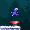יצור כחול רץ