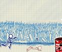 משחק עם איש מצויר רץ , בואו לרוץ לירות ולקפוץ כמה שיותר מהר