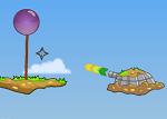 המטרה היא להציל את הבלונים בלי לפוצץ אותם , שימו לב לדברים שיכולים לפוצץ אותם בדרך , יש לכם בתותח אפשרות לכדורים או כוכבי נינג'ה  , לפעמים צריך להשתמש בכדורים כדי להציל את הבלונים או לדחוף אותם מחוץ לסכנה
