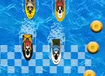משחק מירוץ סירות ג'ט סקי קטנות , משחק מירוצי סירות מגניב וכיף , בוחרים סירה , מתמודדים בתחרויות , מרוויחים כסף ומשפרים או קונים סירה חדשה