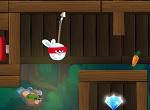 משחק מגניב עם ארנב סמוראי שזורק חוטים כמו ספיידרמן , שחררו את הארנבונים הקטנים והגיעו לסוף השלבים
