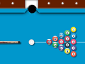 משחק מגניב של סנוקר , לחצו על הכדור וכוונו לכיוון שתרצו להכות , הקו הלבן יראה לכם את הדרך והמקל יראה לכם את הכוח , לחצו רצוף ועזבו בזמן המתאים