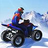 משחק מגניב עם טרקטורון בשלג , שחקו וסעו בשלג בחורף