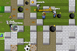 משחק הפצצות יו gameofbombs , משחק פצצות נגד אנשים דומה למשחק פוצץ אותה או בומברמן , משחק בו אתם שמים פצצות כדי לפוצץ אנשים אחרים ובורחים מהפצצות של אנשים אחרים , משחק אונליין נגד שחקנים מכל העולם ! כיף !