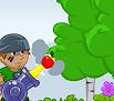 קלעו את התפוחים לתוך הסל בעזרת תותח התפוחים