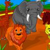 משחק צביעה- גן חיות