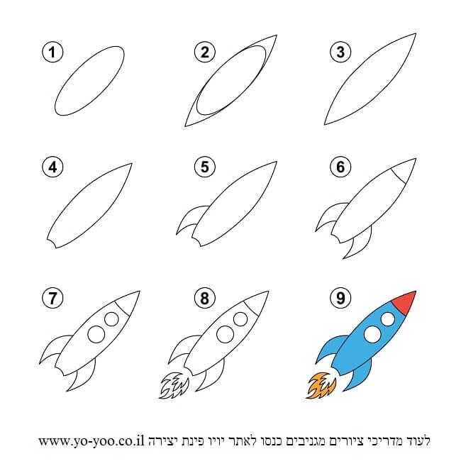 איך לצייר טיל
