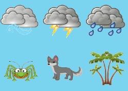 קולות של דברים בטבע, גשם, רעמים, רוחות ים ועוד, פשוט לחצו על התמונה המתאימה