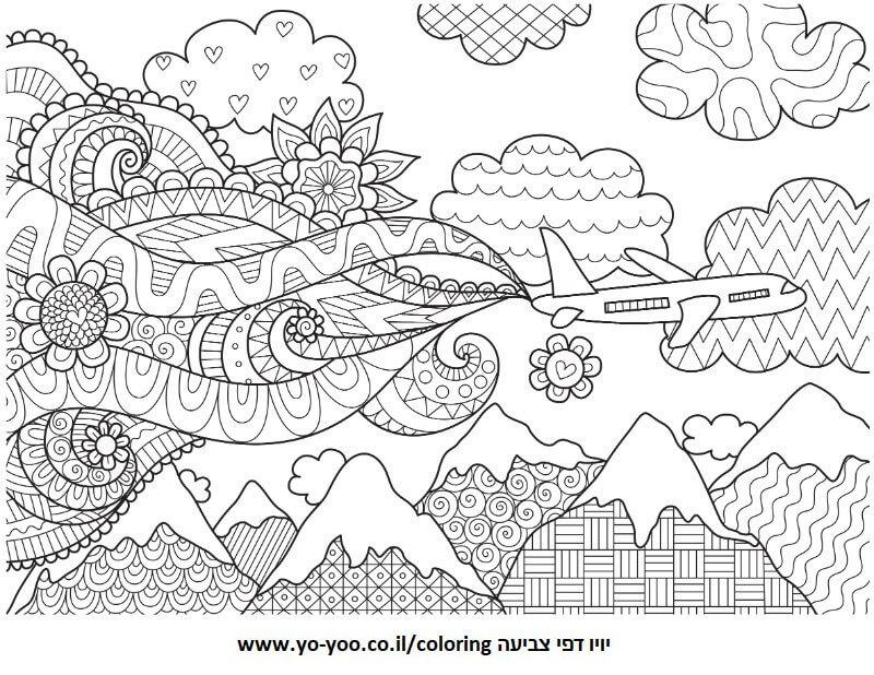 מטוס עם צורות