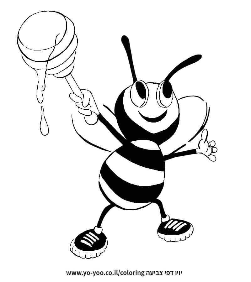 דבורה עם דבש