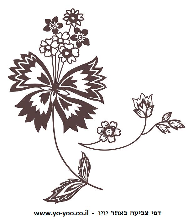 פרחים יפים לצביעה