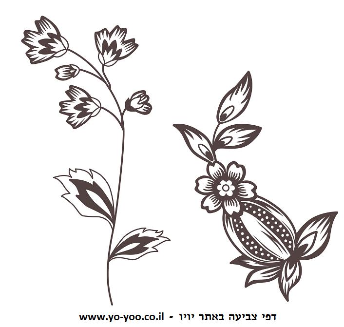 דפי צביעה פרחים