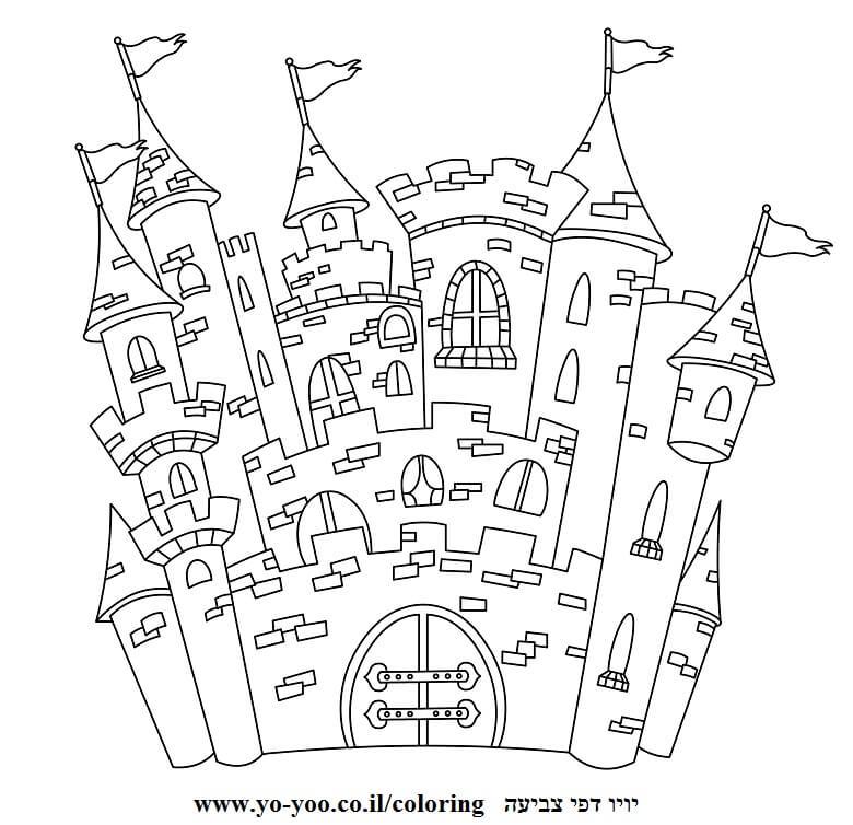 דף צביעה טירה ארמון