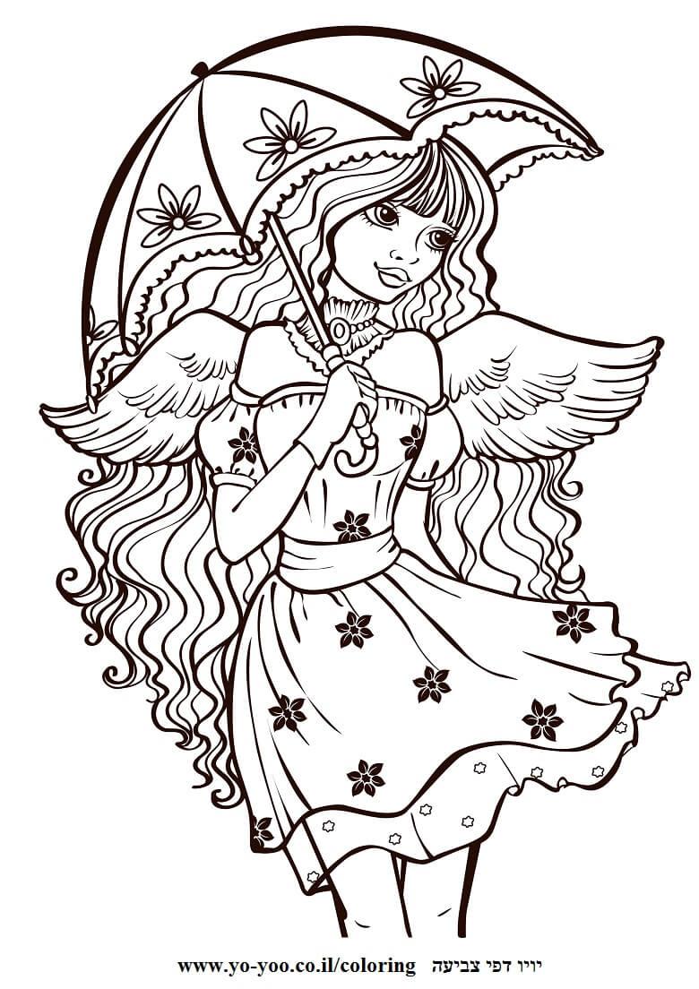 דף צביעה נסיכה חמודה