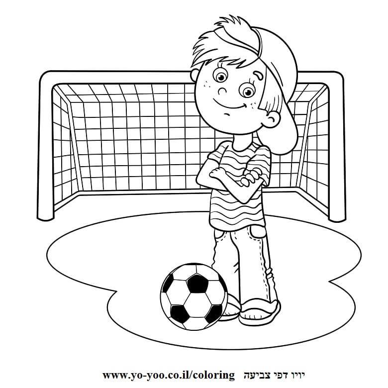 דף צביעה כדורגל