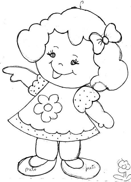 ילדה חמודה לצביעה