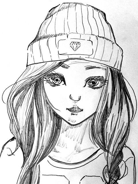 צביעת נערה חמודה