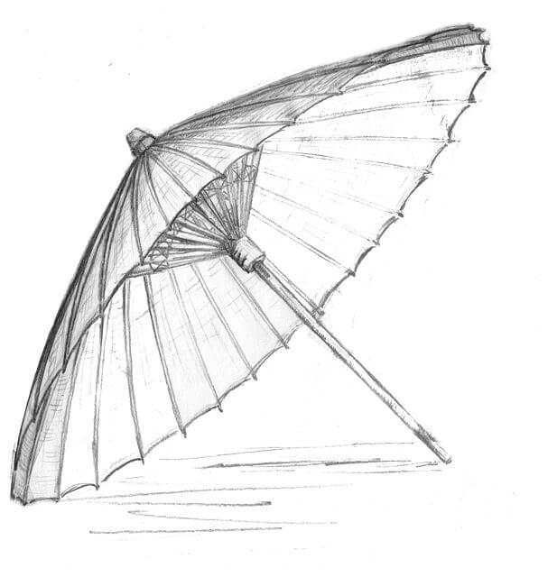 מטריה מצוירת