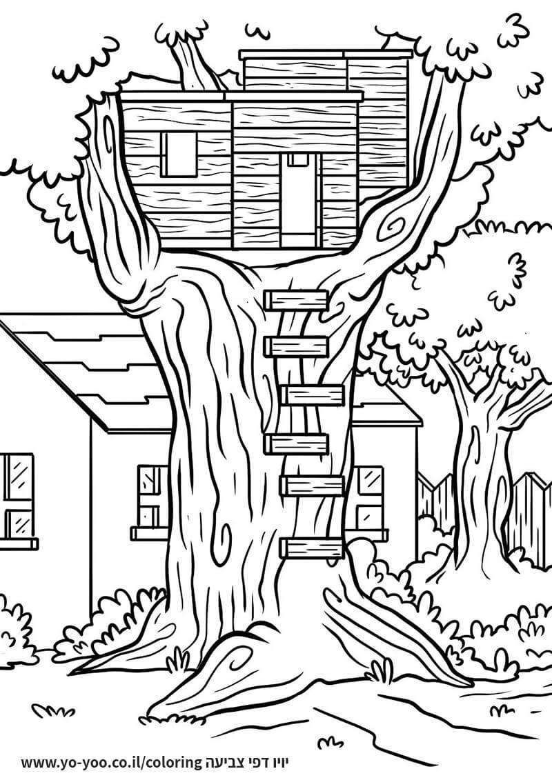 דף צביעה בית עץ