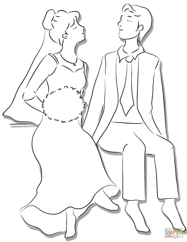חתן וכלה לצביעה