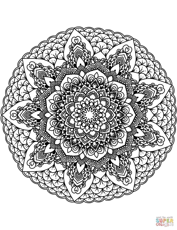 מנדלת פרח לצביעה