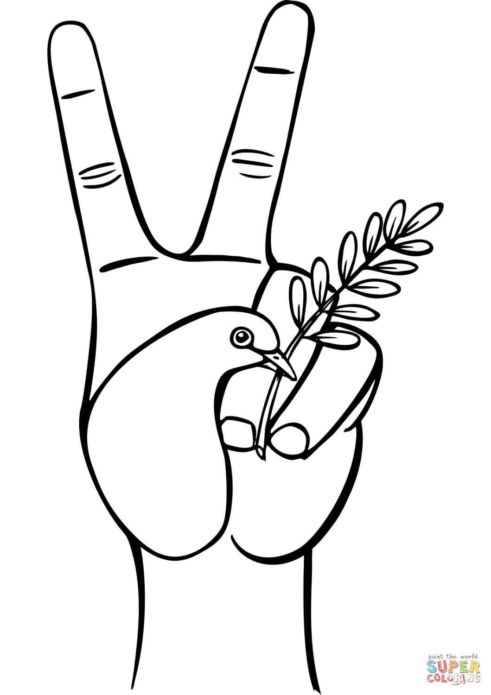 סימן שלום לצביעה