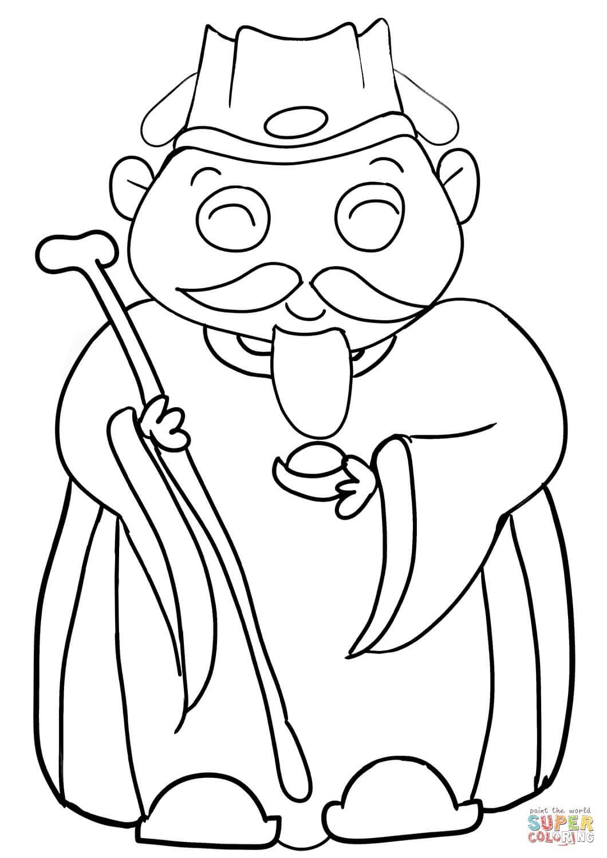 חכם סיני זקן לצביעה