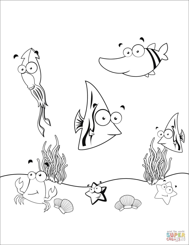 תחתית הים. לצביעה