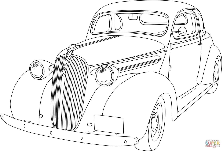 מכונית עתיקה לצביעה