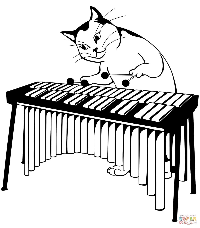 חתול מנגן לצביעה