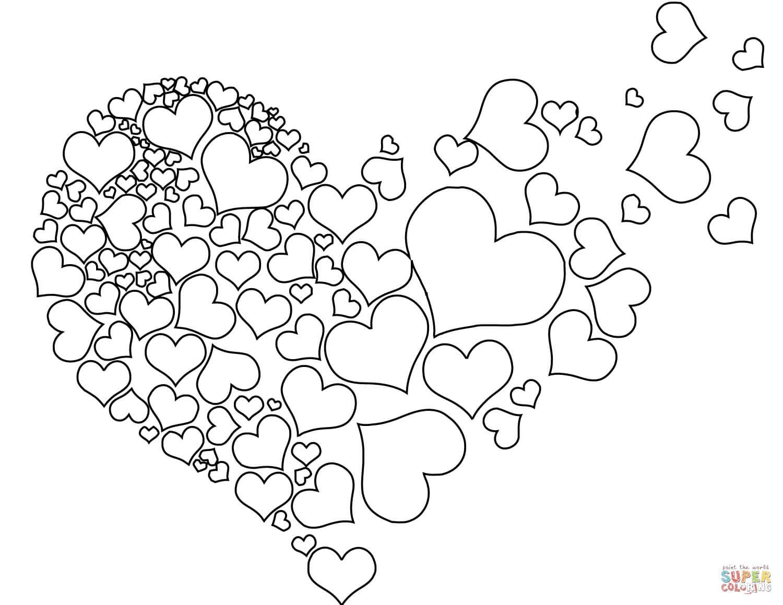 לב לבבות לצביעה