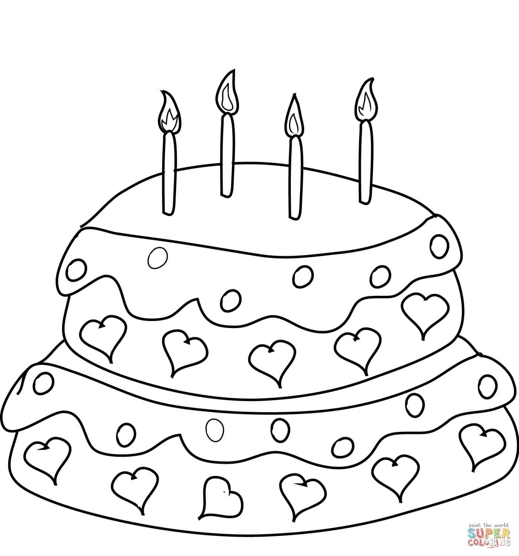 עוגת לבבות לצביעה