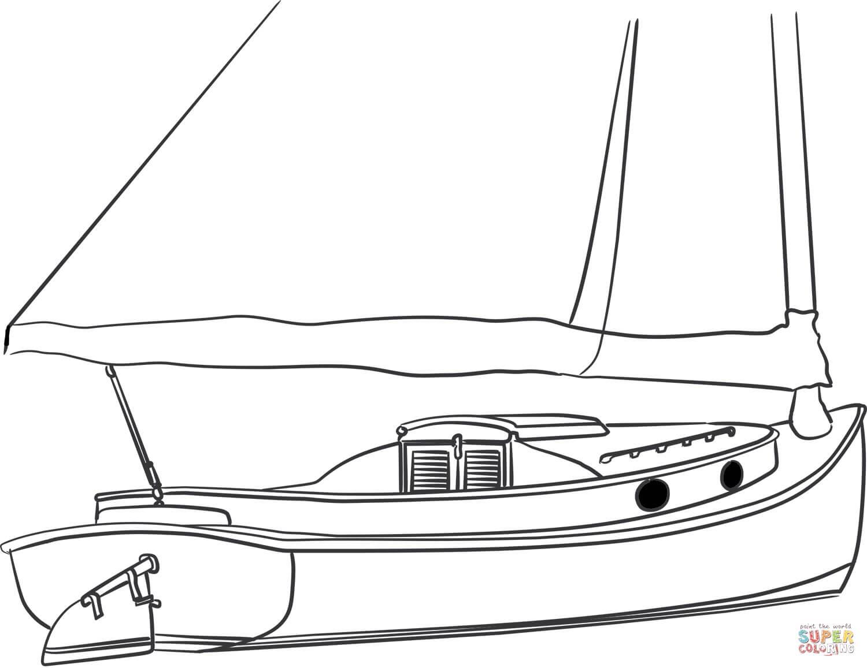 סירת הפלגה לצביעה