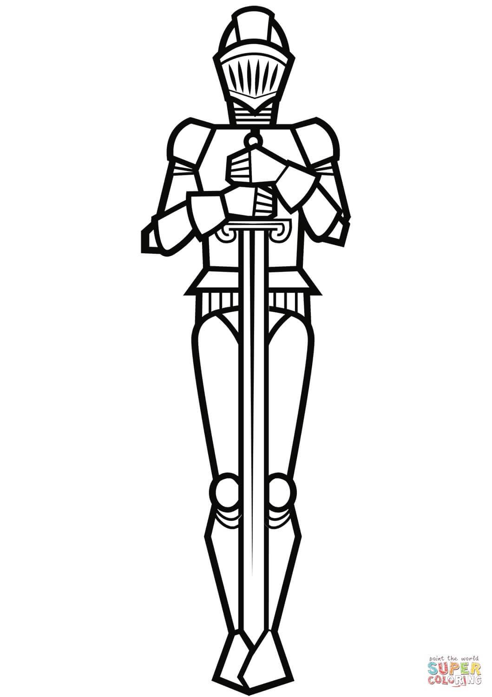 דף צביעה של אביר